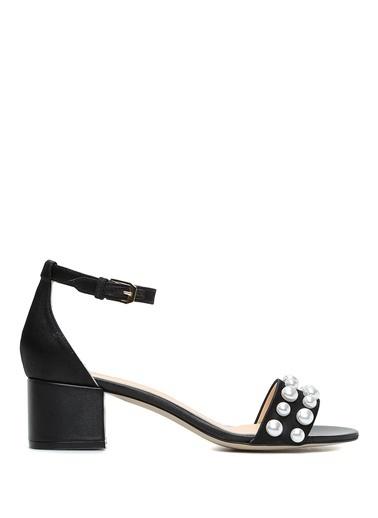 Belle Epoque Kalın Topuklu Sandalet Siyah